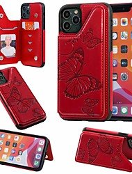 cheap -Case For Apple iPhone 11 / iPhone 11 Pro / iPhone 11 Pro Max Card Holder / with Stand Back Cover Butterfly PU Leather