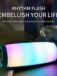 Недорогие -светодиодный проблесковый маячок bluetooth-динамик портативный с веревкой открытый динамик 1200 мАч ткань водонепроницаемый сабвуфер FM-радио