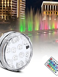 cheap -1PCS SMD5050 10 Led Remote Controlled RGB Submersible Light Underwater AAA Battery Power Night Lamp For Vase Bowl Garden Party Decoration With Free Remote Controller (not contain battery)
