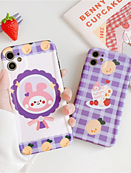 cheap -Cute rabbit bear phone case soft silicon for iphone 7 case transparent cases for iphone 11 pro max 7 8 plus se 2020 XS MAX XR fundas