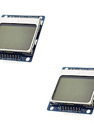 cheap -2Pcs LCD Module Display Monitor Blue Backlight Adapter PCB 84x48 LCD for Nokia 5110 Screen for Arduino