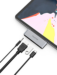 cheap -PULWTOP USB Type C Hub 4 in 1 USB C Adapter with 4K HDMI PD3.0 60W USB2.0 3.5mm Audio Compatible with Macbook2020 Ultrabook