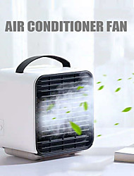 cheap -USB Mini Portable Air Cooling Fan Ventilador Portatil Household Fan Air Conditioner Humidifier Anion Purifier Desktop Fan for Home with Night Light