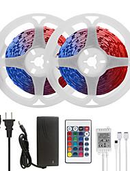 Недорогие -Mashang светодиодные ленты 32.8ft 10m RGB TIKTOCK 300LEDS SMD 5050 с 24 ключами ик-пульта дистанционного управления и адаптером 100-240В для домашней спальни кухня ТВ-подсветка DIY деко