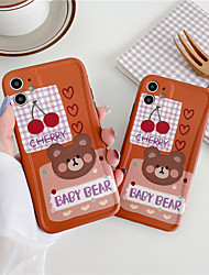 cheap -INS Korea cute red cherry bear soft coque for iPhone 11 Pro MAX se 2020 Xs MAX Xr X flower smiley face cover for iphone 11Pro 7 8 Plus