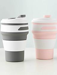 Недорогие -кофейная чашка складная силиконовая чашка для воды портативная силиконовая телескопическая питьевая складная многофункциональная дорожная чашка 350мл