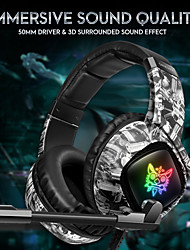 cheap -ONIKUMA K19 3.5mm Wired Gaming Headset Over Ear Headphones  with Mic LED for PC Laptop PS4 Smart Phone
