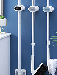 cheap -Mop Hook Free Punching Wall Hanging Bathroom Strong Viscose Broom Clip Mop Hanger Fixed Buckle Storage Rack