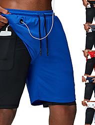 Недорогие -Муж. Шорты для бега Спортивное Нижняя часть с карманом для телефона 2 в 1 с лайнером Спорт Тренировка в тренажерном зале Бег Марафон Дышащий Быстровысыхающий Абсорбент влаги / Эластичная