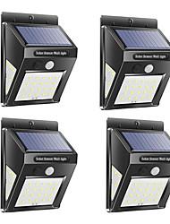 cheap -4pcs 2pcs 1pcs 3 Modes 30 LED Outdoor Solar Wall Lamp Waterproof PIR Motion Sensor Garden Light Solar Powered Spotlight Sunlight Street Light