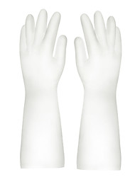 cheap -1 Pair Dish Washing Gloves Odorless Scrubber Household Cleaning