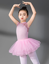 cheap -Ballet Skirts Lace Girls' Training Performance Sleeveless High Cotton