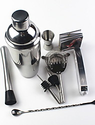 cheap -Cocktail Bartender Cocktail Mixer Set New Set 9 Piece Set Stainless Steel 750ml With Recipe