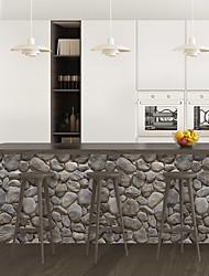 cheap -Cobblestone PVC Simulation Self-adhesive DIY Decorative Wall Sticker Bar Sticker