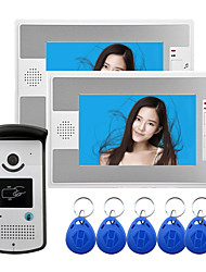 cheap -Wired 7 Inch Hands-free 800*480 Pixel One To One Video Doorphone with RFID Unlock