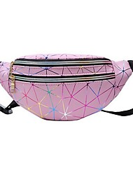 cheap -Women's Bags PU Leather Fanny Pack Zipper 2020 Daily Black Red Blushing Pink Dusty Rose