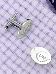 cheap -Personalized Customized Men's Cufflink Set Geometrical Geometric 1pc / pack Silver