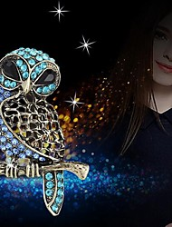 cheap -Brooches Owl Animals Brooch Jewelry Blue For Daily Wear