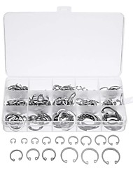 cheap -270Pcs Silver C-type Circlip Stainless Steel 15 Size Internal& External with Case