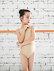 cheap -Rhythmic Gymnastics Leotards Gymnastics Leotards Girls' Kids Dancewear Stretchy Breathable Solid Colored Sleeveless Training Competition Dance Rhythmic Gymnastics Gymnastics Chocolate