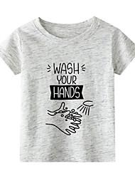 billiga -Barn Småbarn Flickor Kineseri Djur Tryck Halvlång ärm T-shirt Vit
