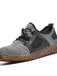 cheap -Men's Fall / Winter Sporty / Casual Athletic Outdoor Trainers / Athletic Shoes Hiking Shoes Mesh Shock Absorbing Wear Proof Gray
