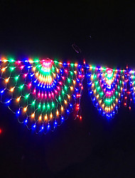 cheap -1X 3.5M 3 Peacock Mesh Net Led String Lights Colorful Outdoor Fairy Garland For Wedding Christmas Wedding New Year Party Decoration AC110V 120V 220V 230V EU US Plug IP65 Waterproof
