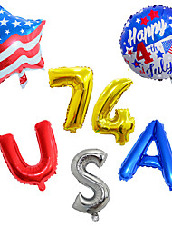 cheap -Party Balloons 1 pcs Independence Day Balloon All Stripes / Ripples City / Flag for Party Favors Supplies or Home Decoration