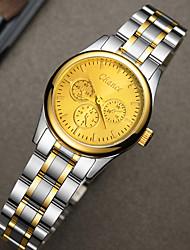 billiga -Dam Quartz Elegant Mode Guld Legering Kinesiska Quartz Vit Svart Guld Vardaglig klocka Häftig 1 st Ramtyp Ett år Batteriliv