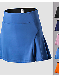 cheap -Women's Tennis Golf Skirt Butt Lift Quick Dry Breathable Sports Outdoor Autumn / Fall Spring Summer Spandex Solid Color Black Blue Pink Orange Dark Navy / High Elasticity / High Rise