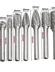 cheap -8 Pcs/set 6mm-12mm Tungsten Carbide Burr Bit CNC Engraving 1/4 Rotary Cutter Files Hot Sale