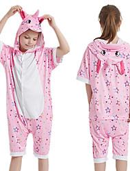 cheap -Kid's Kigurumi Pajamas Unicorn Onesie Pajamas Silk Fabric Pink Cosplay For Boys and Girls Animal Sleepwear Cartoon Festival / Holiday Costumes / Leotard / Onesie