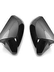 cheap -Horn Glossy Black Rear View Side Car Mirror Cover Caps Fit For Toyota Camry 2018 Avalon 2019 C-HR 2016-2018