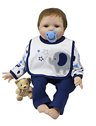 cheap -Reborn Baby Dolls Clothes Reborn Doll Accesories Cotton Fabric for 22-24 Inch Reborn Doll Not Include Reborn Doll Elephant Soft Pure Handmade Boys' 3 pcs