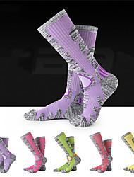 cheap -R-BAO Hiking Socks Socks 1 Pair Breathable Warm Sweat-wicking Comfortable Chinlon Elastane Autumn / Fall Spring Winter for Women's Ski / Snowboard Fishing Climbing Purple Yellow Fuchsia / Cotton