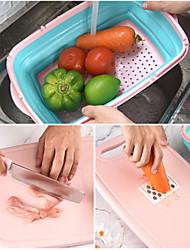 economico -tagliere multifunzione da cucina pieghevole con cestello filtro acqua pieghevole cestello drenante per verdure grattugia con coltello da cucina