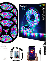 cheap -15M (3x5M) App Intelligent Control Bluetooth Music Sync Flexible Led Strip Lights 2835 RGB SMD 540 LEDs IR 24 Key Bluetooth Controller with 12V 3A Adapter Kit