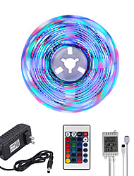 cheap -Bright RGBW LED Strip Lights 5M RGBW Tiktok Lights 1170LEDs SMD 2835 with 24 Keys IR Remote Controller and 100-240V Adapter for Home Bedroom Kitchen TV Back Lights DIY Deco