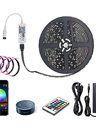 cheap -ZDM LED Light Strips RGB Tiktok Lights WiFi Intelligent Remote Dimming 5M 300 LEDS 5050 SMD with IR24 key Controller Kit DC12V