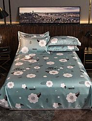cheap -Summer Mat - 3-Piece Set / 1 Bed Sheet and 2 Pillowcases / Ultra Silky Soft Polyester / Modern Magical Floral Printed