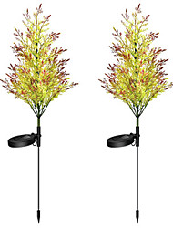 cheap -New Solar Garden Lights Pine And Cypress Trees 8LED Lights Lawn Lights Floor Lights Outdoor Christmas Decorative Lights 2PCS