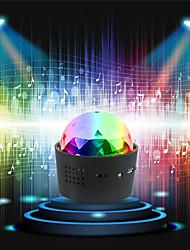 abordables -2pcs / 1pcs luces de dj para coche luces de bola de discoteca inalámbricas con batería sonido activado led fiesta luz estroboscópica mini portátil rgb dj luz de escenario con usb