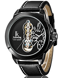 cheap -Men's Dress Watch Quartz Genuine Leather 30 m Water Resistant / Waterproof Day Date Analog Fashion Cool - Black / Silver Black+Gloden White+Silver One Year Battery Life