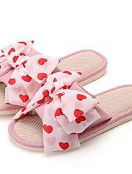 cheap -Women's Slippers & Flip-Flops Summer Flat Heel Round Toe Daily Linen Dusty Rose / Pink / Green