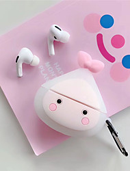 cheap -For Apple Air Pods Pro Earphone Soft TPU Case For Apple Air Pods 3 Avocado Peach Cover Case With Hooks