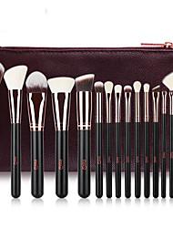 cheap -Professional Makeup Brushes 15pcs Professional Full Coverage Comfy Wooden / Bamboo for Blush Brush Foundation Brush Makeup Brush Eyeshadow Brush