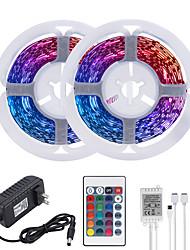 cheap -32.8ft 10M LED Strip Lights RGB Tiktok Lights 600LEDs Flexible Color Change SMD 2835 with 24 Keys IR Remote Controller and 100-240V Adapter for Home Bedroom Kitchen TV Back Lights DIY Deco