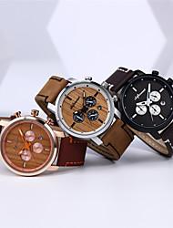 levne -Pánské Sportovní hodinky japonština Křemenný Kůže Voděodolné Analogové Vintage Módní - Černá Rubínově červená Hnědá