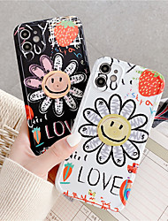 cheap -Cute sun flower Soft silicone phone case for iphone X XR XS 11 Pro MAX SE 2020 7 8 plus Blue shockproof back cover funda