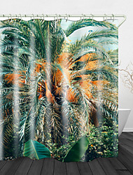 cheap -Jungle Digital Print Waterproof Fabric Shower Curtain for Bathroom Home Decor Covered Bathtub Curtains Liner Includes with Hooks
